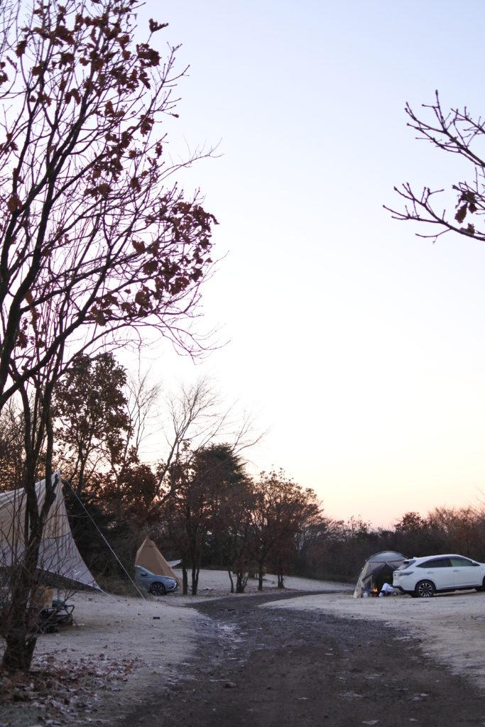 朝のキャンプ場風景@朝霧ジャンボリー