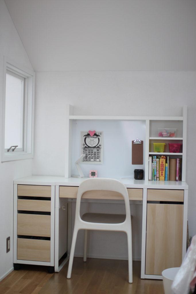 IKEAのMICKEのワークステーション(デスク机)を組み立てました