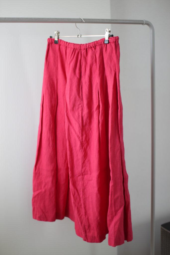 ピンクのinaのスカート