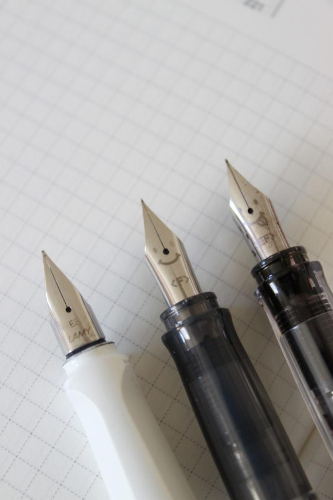 LAMYのペン先EFとカクノKakunoのペン先FとEF