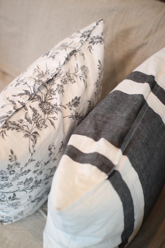 IKEAの枕カバーでクッションカバーを作る