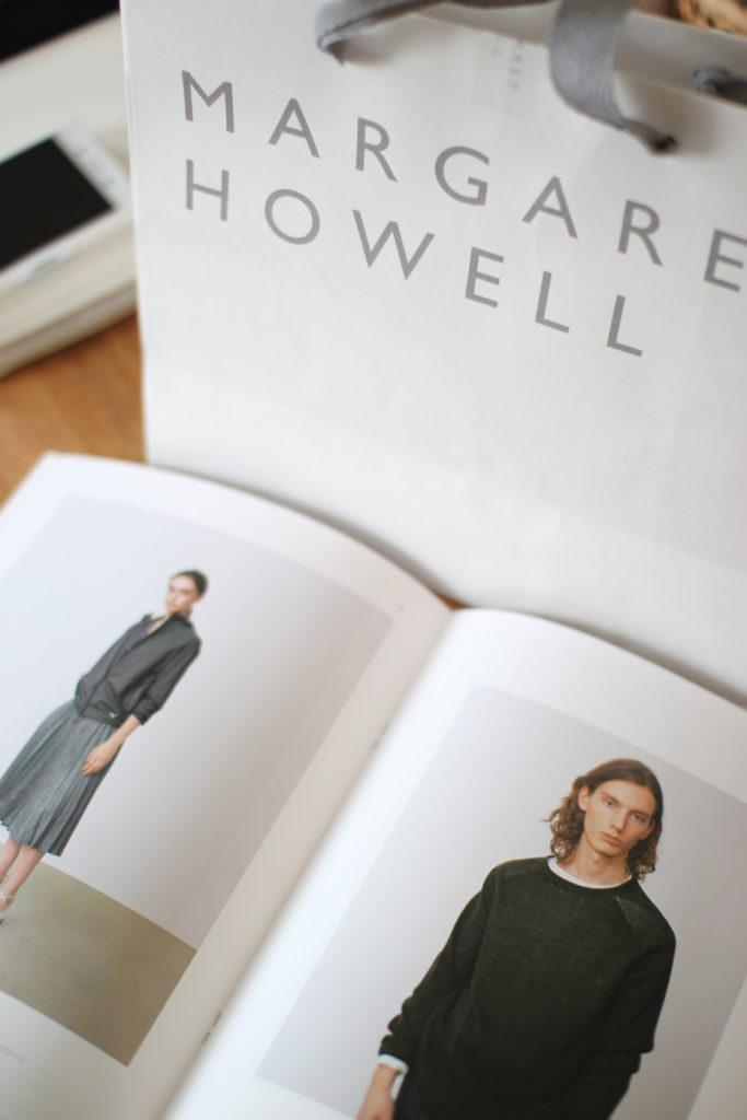 マーガレットハウエルでもらった新しいカタログ