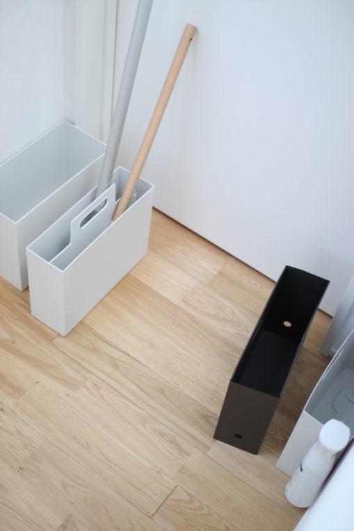 わが家にあるファイルボックスを集めてきてフロアワイパーとMQモップを入れてみた