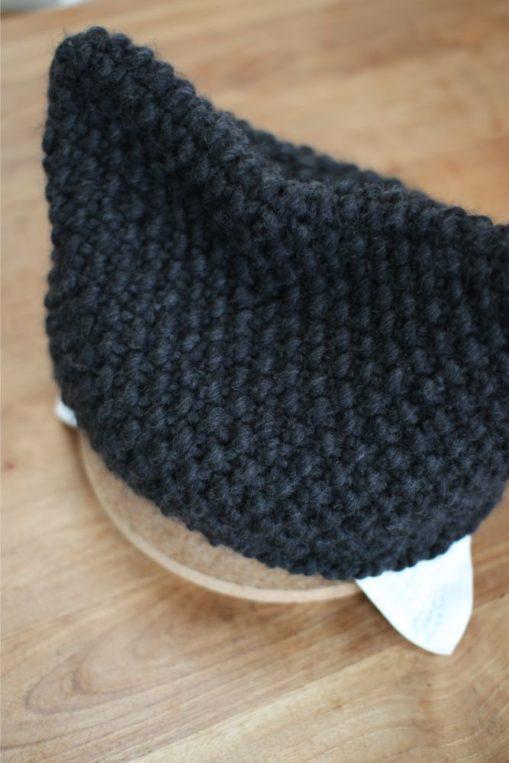 ニットの鍋帽子が夏も活躍します