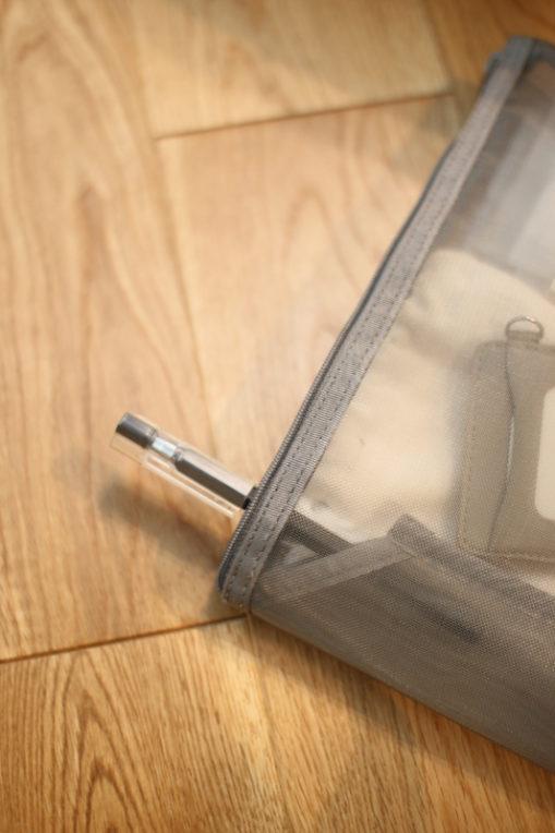 無印のナイロンメッシュケースをバッグインバッグに