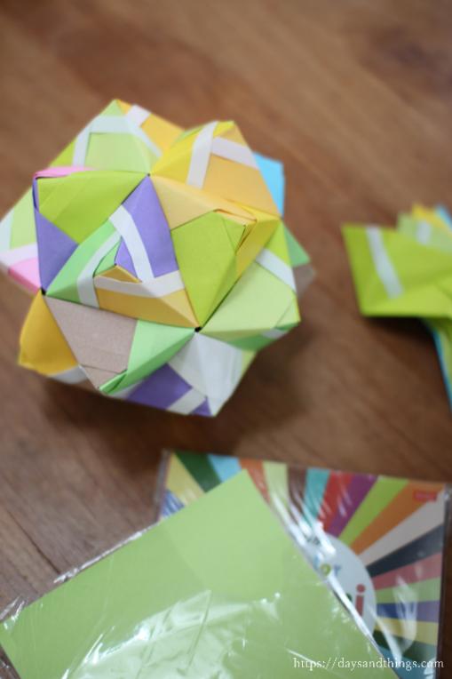 折り紙でくす玉づくり